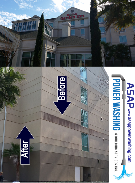 Hotel Power Washing | Exterior Building Cleaning Services | www.ASAPpowerwashing.com
