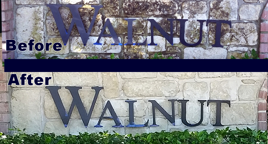 Stone Sign Cleaning